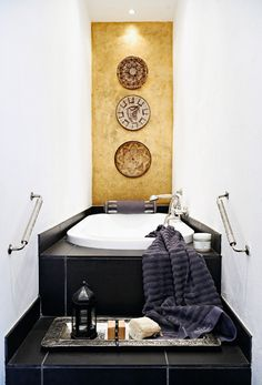 create an accent wall in your bathroom
