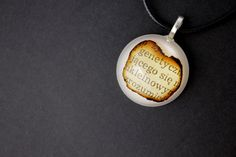 Book Necklace Book jewellery Unique gift Resin by NuluJewellery
