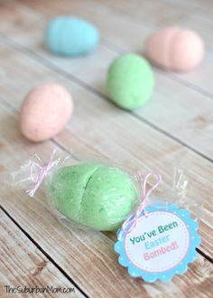 DIY Easter Egg Bath Bombs | TheSuburbanMom