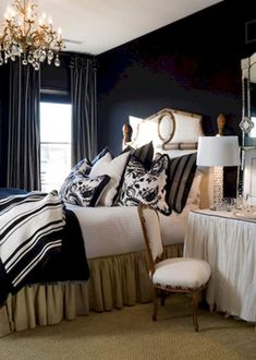 70+ Elegant Black and White Bedroom Style Inspirations