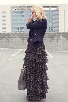 maxi skirt & a fall jacket