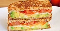 Avocado, Mozzarella and Tomato Grilled Cheese! Avocado, Mozzarella and Tomato Grilled Cheese!
