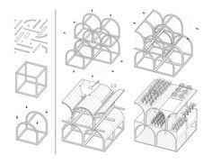 Diagram of modularity of Mashambas Skyscraper by Lipiński and Frankowski