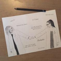 Cosima and Delphine (Orphan Black fan art) by julesrizz