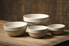 Americana General Mixing Bowls...love! They are dis continued :(. ....I must find a similar set.