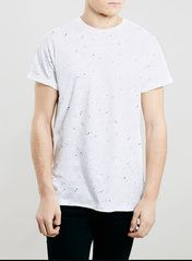 WHITE PAINT SPLAT ROLLER T-SHIRT