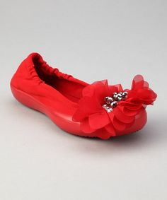 Take a look at this Cranberry Delilah Ballet Flat by SWYT Culture on #zulily today!