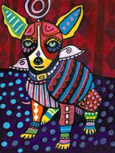 Chihuahua Art Dog Print  POSTER ART PRINTS  by HeatherGallerArt, $24.00