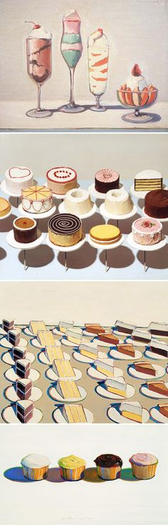 Wayne Thiebaud- saw a lot of his work at the Palm Springs!