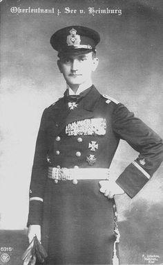 Heino von Heimburg comandante U-boat commander de la Kaiserliche Marine durante Primera guerra mundial.