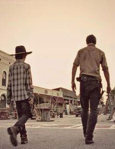 Carl and Rick  #twd #thewalkingdead