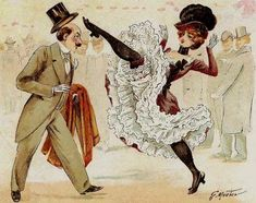 Can+Can+Dancers+1912 | Une des affiches du film French Cancan
