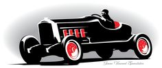 1928 Packard Speedster - let's incorporate this silhouette into your event! (Cake topper?)