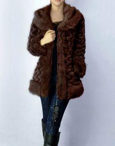 autumn and winter hot selling fur slim thermal rabbit fur outerwear belt large fur collar cotton padded jacket