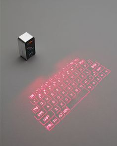 Magic Cube Keyboard by Celluon (saw this in an episode of CSI: Miami)