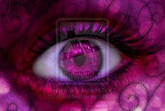 Intense Pink Heart eye