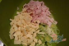 Celerový salát s ananasem a pórkem | NejRecept.cz Cabbage, Vegetables, Pineapple, Cabbages, Vegetable Recipes, Brussels Sprouts, Veggies, Sprouts