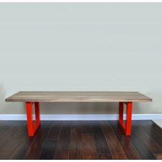 Rail Bench by Elan Furniture Apartment Furniture, Dining Furniture, Dining Bench, Modern Furniture, Dental Kids, Children's Dental, Front Entrances, Interior And Exterior, Solid Wood