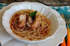 Pasta con baccalà al sugo ricetta piatto unico leggero