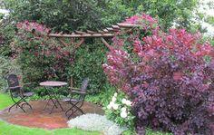 Nordiske haver: Terrasse med morgensol