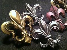 Fleur de Lis Decorative PushPins Set of 4 GREAT by PoshPushPins, $4.50