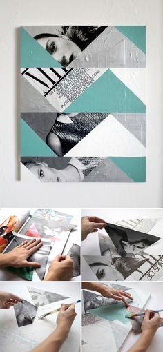 easy diy abstract photo art (Promise Tangeman Blog)