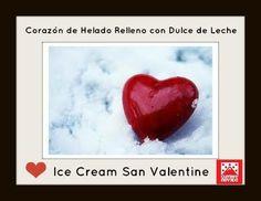 Seguimos presentando la Linea de Ice Cream San Valentine....... Corazones de Helado rellenos con Dulce de Leche y bañados con Chocolate....