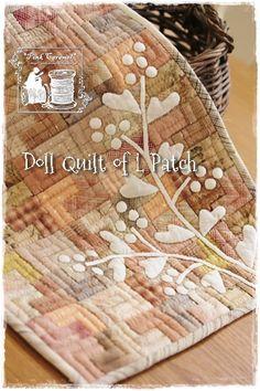 Pink Caramel: L Patch のドールキルト、完成!