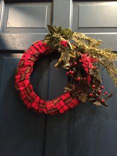 Plaid wreath