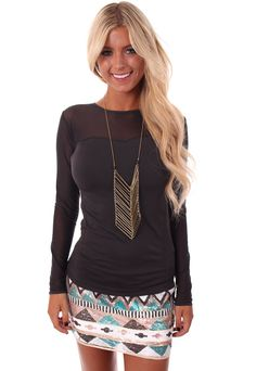 Lime Lush Boutique - Charcoal Mesh Detail Top , $24.99 (http://www.limelush.com/charcoal-mesh-detail-top/)