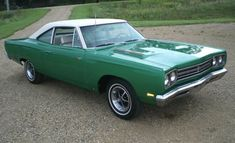 Example of Rallye Green paint on a 1969 Chrysler Plymouth RoadRunner