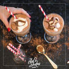 chocolate quente gelado