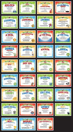 Football certificate templates football awards team mom and 35 fantasy football award certificates talk some smack with fellow owners recognize winners and yelopaper Gallery