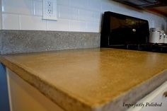 DIY for concrete countertops!  Glance the pics and go to the bottom for the complete tutorial and click the countertop care link also!