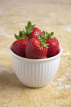A simple bowl of strawberries.