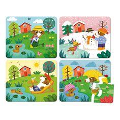 Puzzle die 4 Jahreszeiten Vilac Teenager Kind- Große Auswahl an Spiele und Freizeit auf Smallable, dem Family Concept Store – Über 600Marken.
