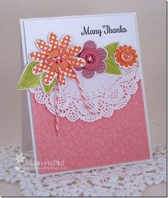 Nice to do with Rosie poise Cute Thank You Cards, Cute Cards, Diy Cards, Craft Cards, Altenew Cards, Stampin Up Cards, Mothersday Cards, Scrapbook Cards, Scrapbooking Ideas
