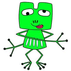 Frog cartoon character - Frog that dances