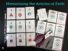 Articles of Faith Cards and Punch Card