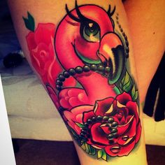I love my flamingo  #tattoo #girlswithtattoos #ink #flamingo