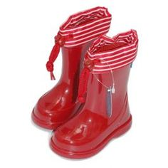 Botas de agua Igor, modelo Pipo náutico, color rojo/blanco.