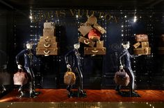 A window display at the Louis Vuitton Plaza 66 Maison in Shanghai. ©Louis Vuitton - Stéphane Muratet