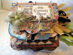 Front Cover for Graphic 45's Old Curiosity Shoppe for Cigar Box & Mini Swap - Scrapbook.com