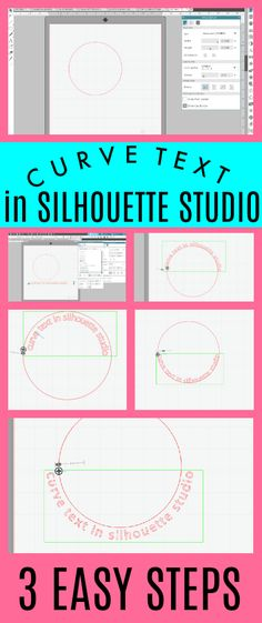 How to Make Text Curve in Silhouette Studio {3 Step Tutorial}