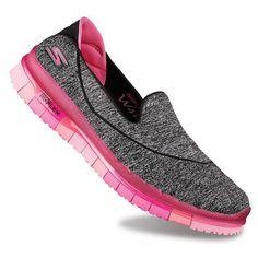 Skechers GO Flex Women's Slip-On Walking Shoes, Dark Grey