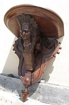 Rare Walnut Victorian Indian Shelf