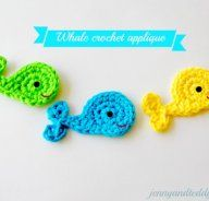 Whale crochet applique, plus tons of free crochet patterns and DIY's. #crochet