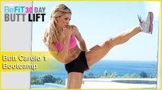Butt Workout Cardio 1: Bootcamp   30 DAY BUTT LIFT, via YouTube.