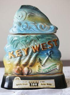 Jim Beam Key West Decanter Vintage 150th Anniversary 1972