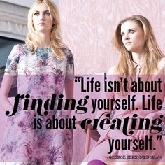 Personal Branding Advice #quote via @heartIFB ~ #Life is about CREATING yourself rather than finding...